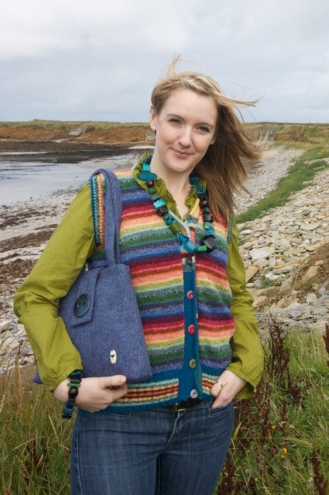 25% OFF Rainbow V-Neck Waistcoat with Pockets WAS £129.95 NOW £98.95