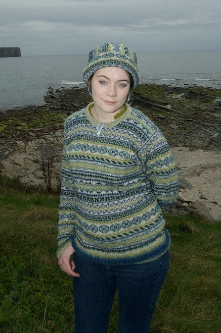Peerie Curlneck Sweater in Seascape £129.95