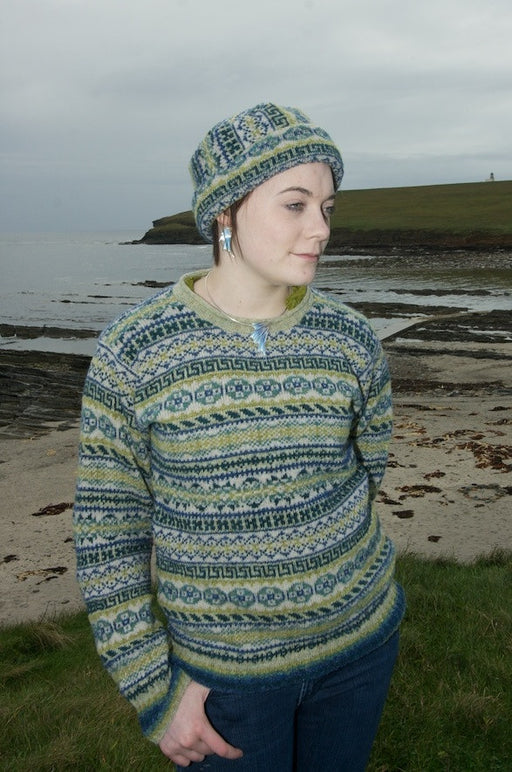 Peerie Pillbox Hat in Seascape £59.95