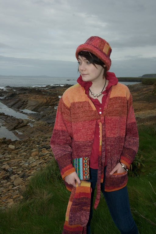 Orkney Landscape Sloppy Joe Jacket in Red Sky at Night £159.95
