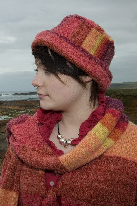 Orkney Landscape Pillbox Hat in Red Sky at Night £59.95
