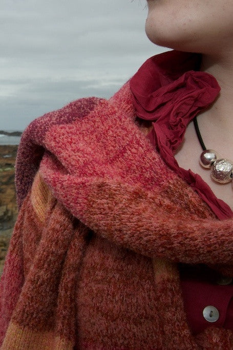 Orkney Landscape Long Scarf in Red Sky at Night £55.00