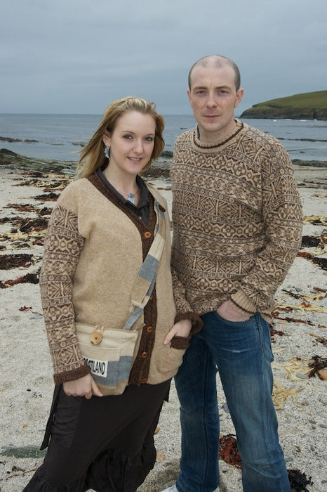 15% OFF Traditional Fair Isle Crewneck Sweater in Shorelines WAS £139.95 NOW £118.95