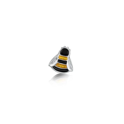 BRAND NEW Sheila Fleet Bumblebee Enamel and Silver Lapel Pin IN STOCK ( ELP0273 ) £69.00