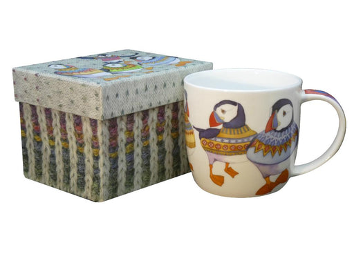 Emma Ball Woolly Puffins Bone China Boxed Mug £13.95