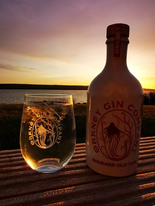 Orkney Gin Company - Rhubarb Old Tom Gin with Gin Mat £32.90
