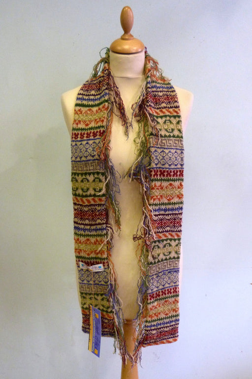 Judith Glue Rackwick Fair Isle Fringed Scarf £55.00