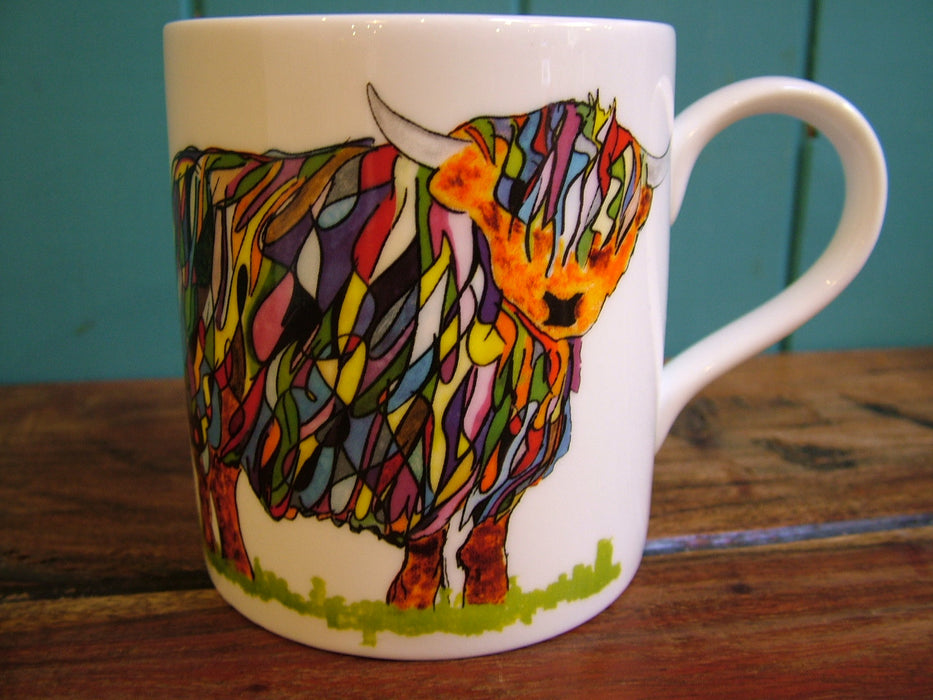 Chloe Gardner Multi Coloured Large Highland Cow Mug £13.95
