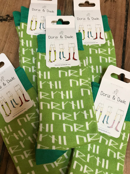 15% OFF Orkney Runes Socks in Green Size UK 3-7 was £5.95 now £5.05