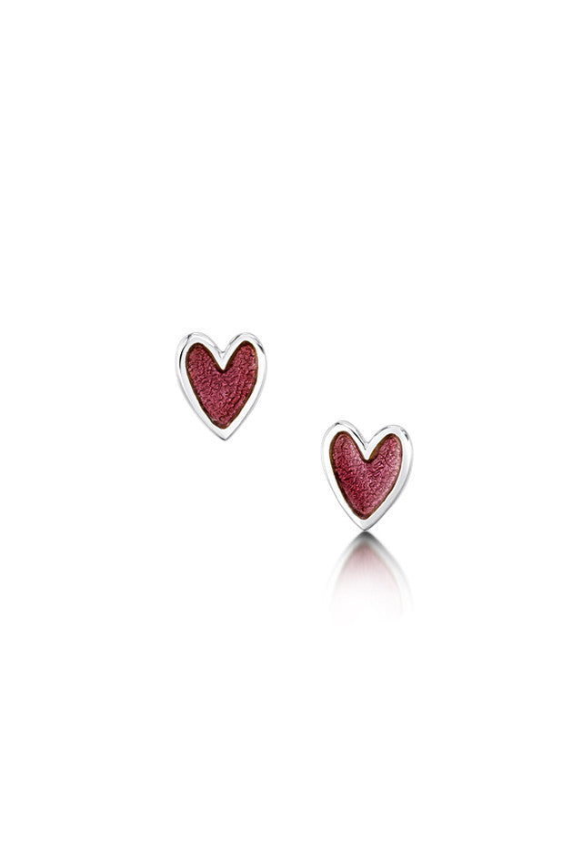 Sheila Fleet Secret Hearts Earrings in Hot Pink £61.00