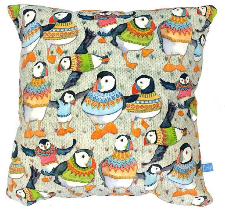 Emma Ball Wooley Puffin Cushion £39.95