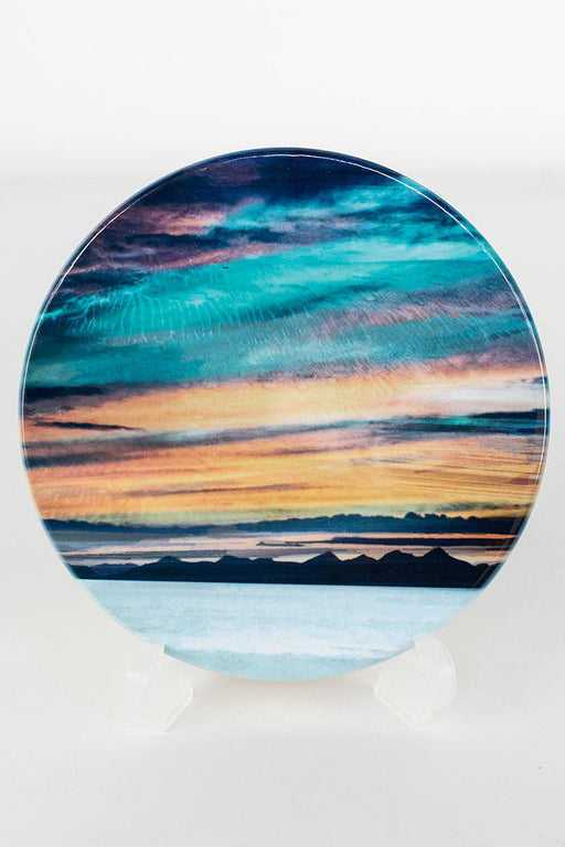 Cath Waters Western Isles from Trotternish Isle of Skye Ceramic Coaster £9.95