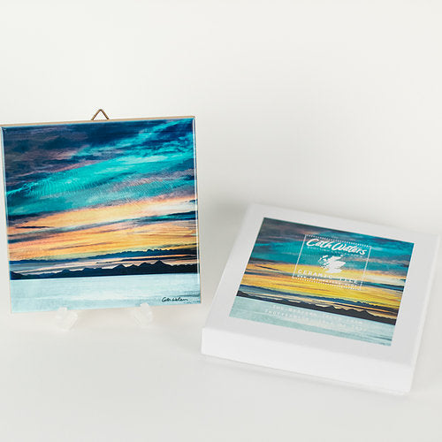 "Cath Waters Western Isles from Trotternish, Skye 4.25"" Ceramic Tile £19.95"