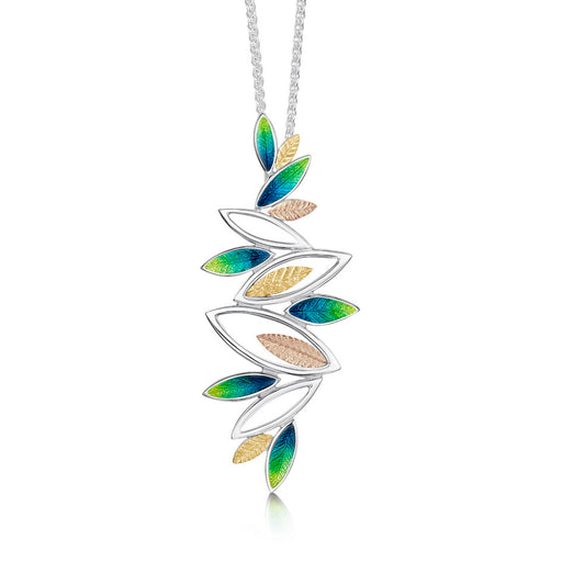 Sheila Fleet Summer Seasons Spring Silver and Gold Necklace ( SYR-EPX265) £316.00