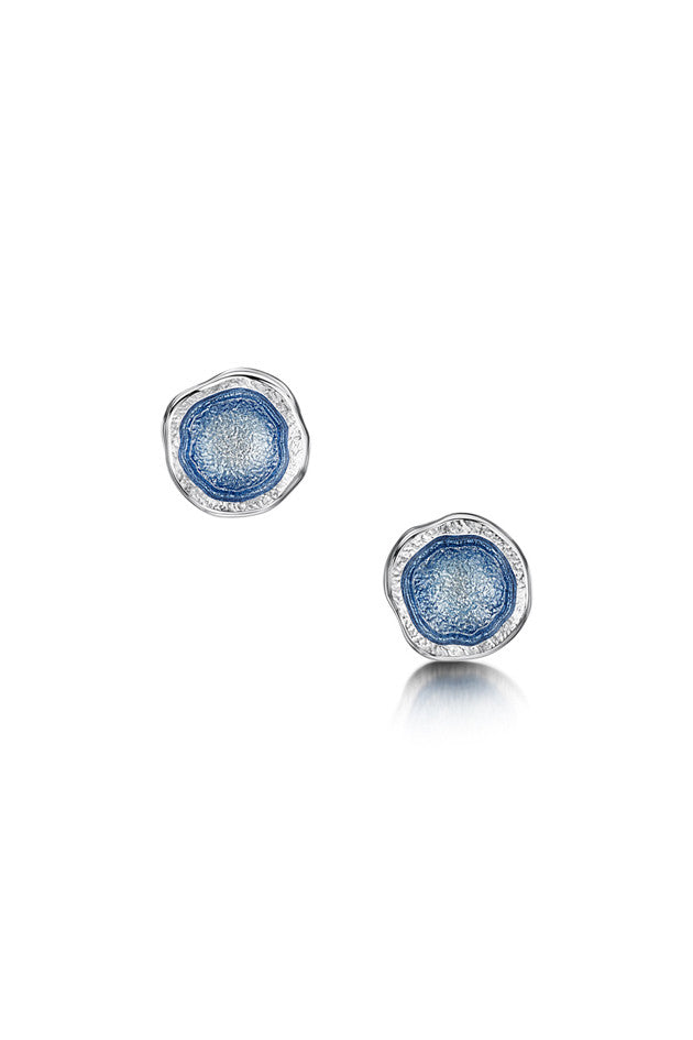 Sheila Fleet Lunar Stud Earrings in Lunar Blue £72.00