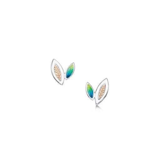 Sheila Fleet Spring Summer Seasons Gold and Silver Stud Earrings IN STOCK (EE00265) £102.00