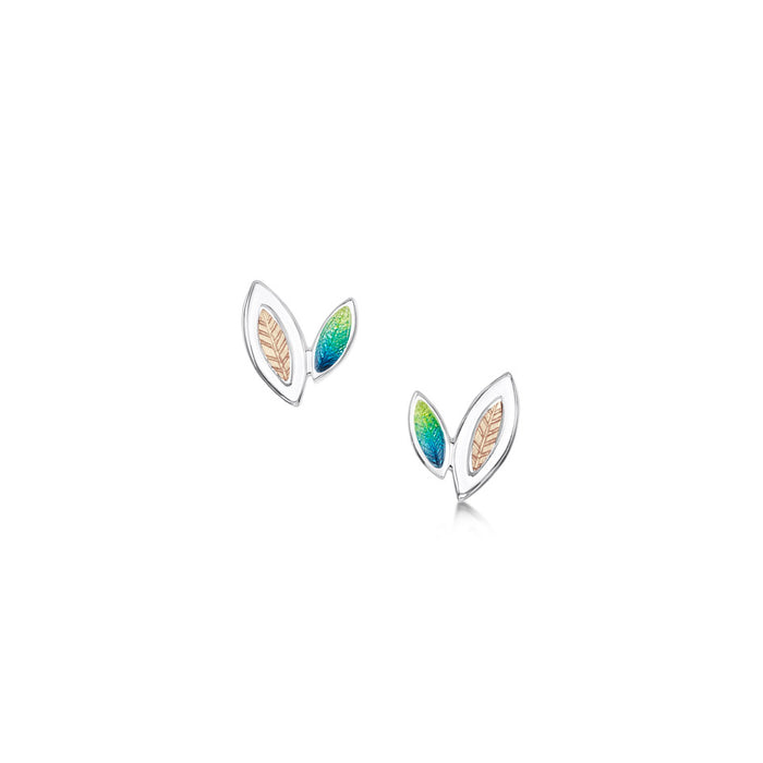 Sheila Fleet Spring Summer Seasons Gold and Silver Stud Earrings  £102.00
