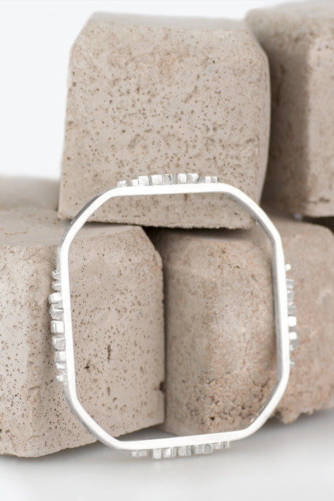 Zoe Davidson Silver Barriers Block Bangle £180.00