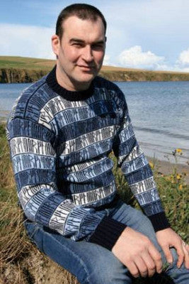 15% OFF Runic Crewneck Sweater in Sea Blues WAS £139.95 NOW £118.95