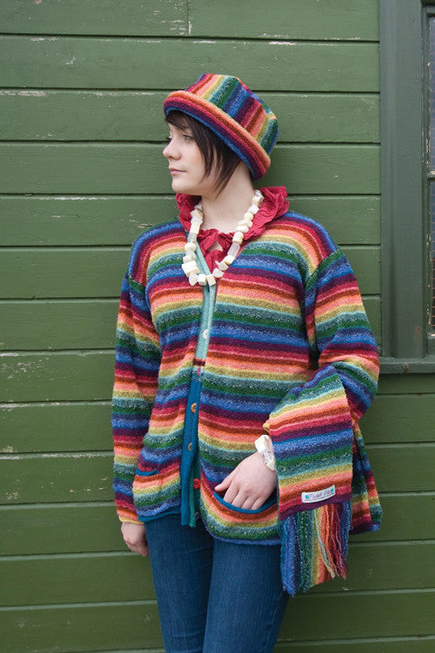 15% OFF Rainbow V-Neck Jacket with Pockets WAS £159.95 NOW £136.95