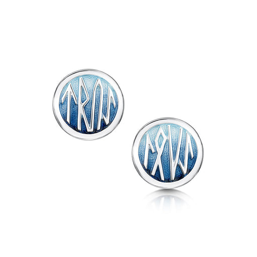 Sheila Fleet Runic Enamel and Silver Stud Earrings ( EEM34 ) £131.00