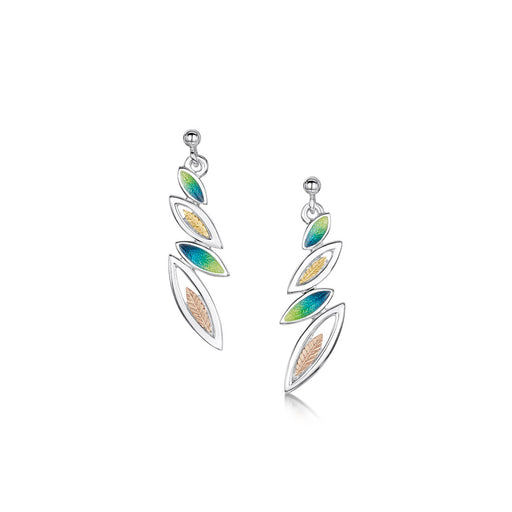 Sheila Fleet Spring Summer Seasons Gold and Silver Drop Earrings ( SYR-EE265 ) £181.00