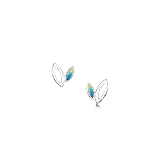 Sheila Fleet Spring Summer Seasons Silver and Enamel Stud Earrings ( EE00262 ) £67.00