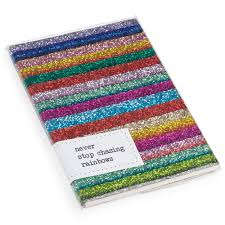 Counting Starts Glitter Notebook, Rainbow £13.95