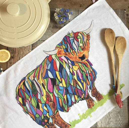 Chloe Gardner Highland Cow Tea Towel £12.95