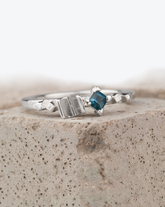 20% OFF Zoe Davidson Scattered Barrier Silver Ring with Topaz Gemstone WAS £80.00 NOW £64.00