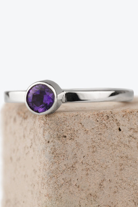 Zoe Davidson Barrier Silver Ring with Amethyst Gemstone £70.00