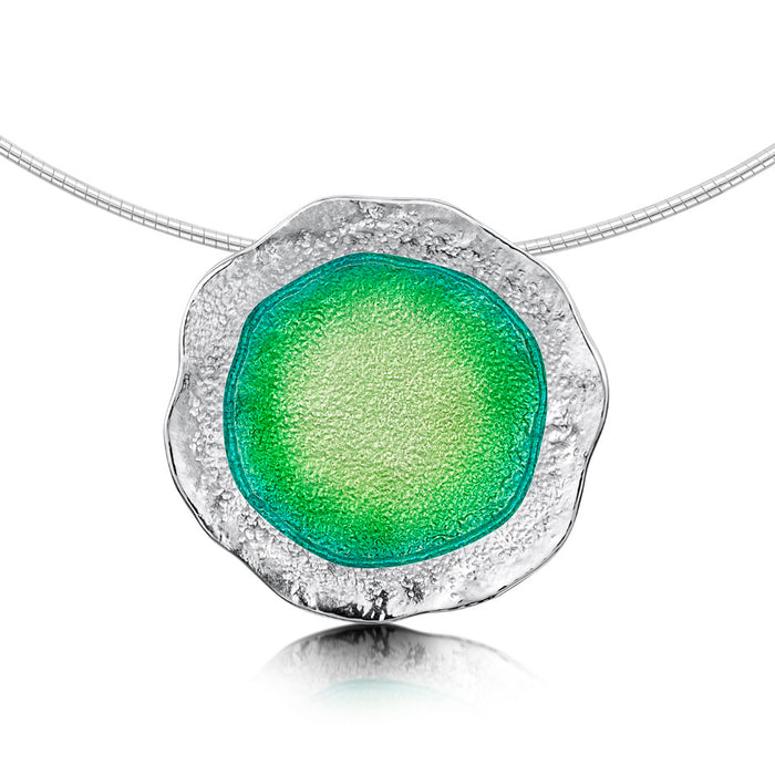Sheila Fleet Lunar Bright Necklet in Spring Green ( ENXX249-BRIGHT )  £354.00
