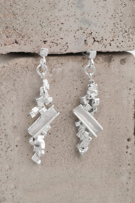 Zoe Davidson Silver Barrier Drop Earrings £74.00