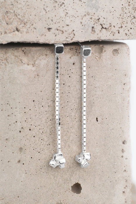 Zoe Davidson Silver Long Block Earrings £50.00