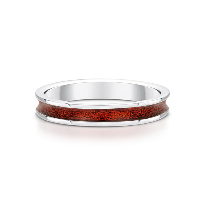 Sheila Fleet Halo Enamel and Silver Ring (ER121-RED)  £100.00