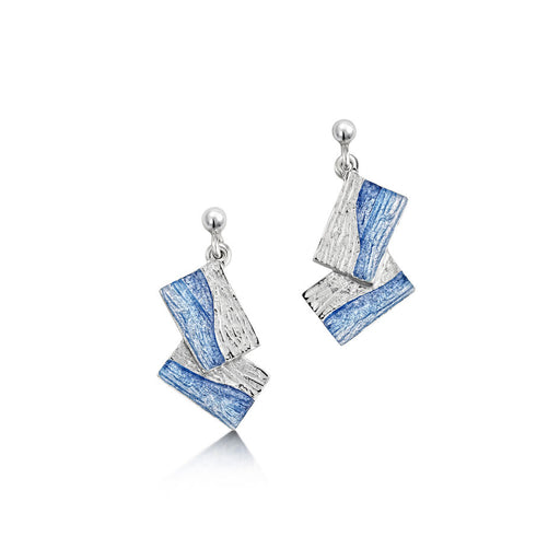 Sheila Fleet Flagstone Earrings Slate ( EEX137) £78.00 IN STOCK