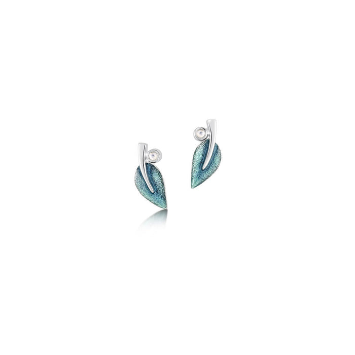 Sheila Fleet Rowan Stud Earrings in Sage ( ESE0157 ) £84.00