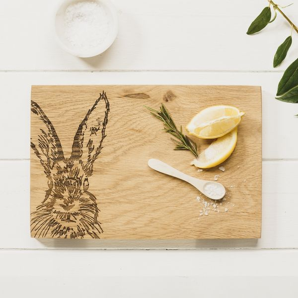 Scottish Made Selbrae House Oak Hare Serving Board 30cm £36.00