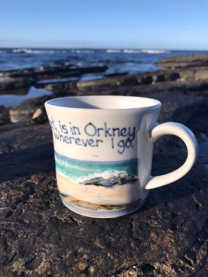 "Highland Stoneware ""My Heart is in Orkney"" Half Pint Mug £39.95"