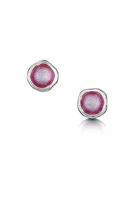 Sheila Fleet Lunar Bright Stud Earrings in Hot Pink ( EE00249-BRIGHT )  £72.00