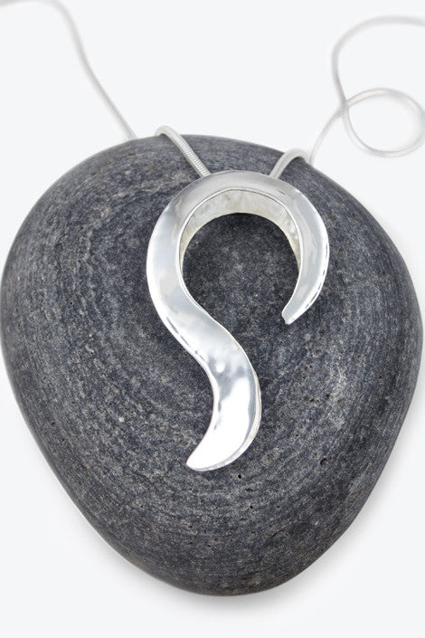20% OFF Zoe Davidson Large Silver Swirl Pendant WAS £128.00 NOW £102.50