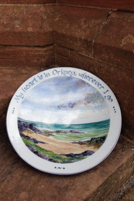 Highland stoneware 'My heart is in Orkney' One Off serving platter £204.95