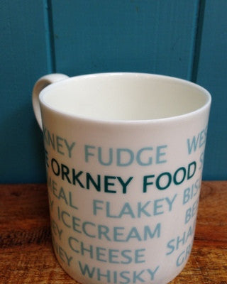 "Judith Glue ""Love Orkney Food"" mug £9.95"