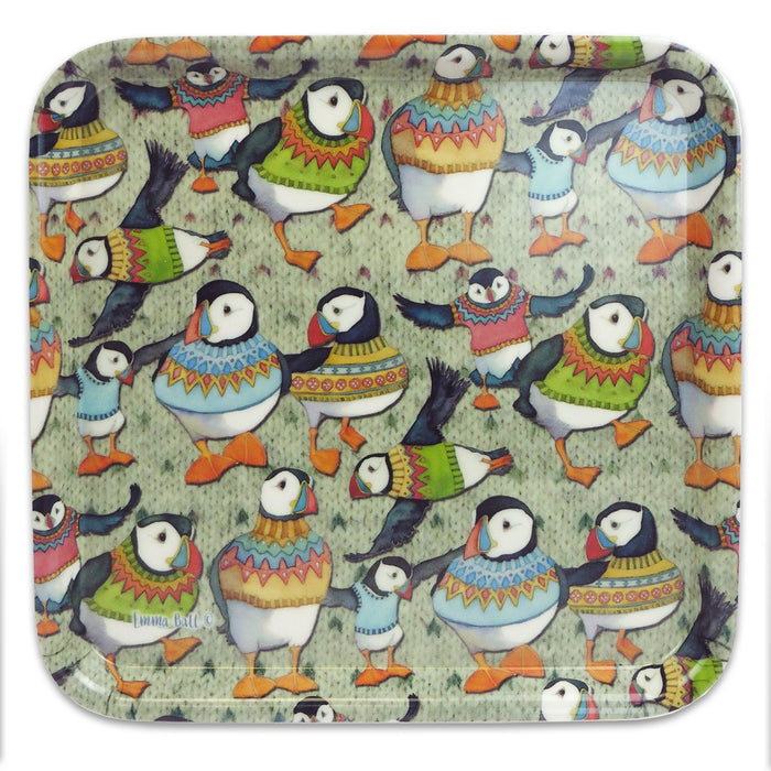 Emma Ball Woolly Puffin Square Tray £11.95