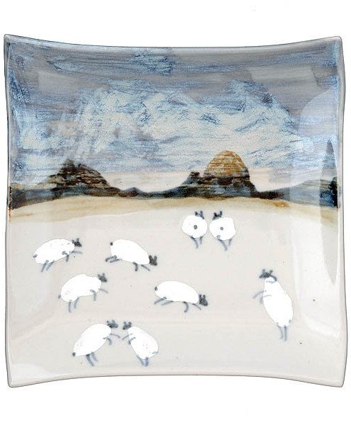 Highland Stoneware Sheep Medium Square Dish £42.95