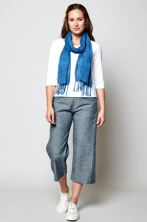 15% OFF New Nomads Cropped Wide Leg Chambray Trousers WAS £55.00 NOW £46.95
