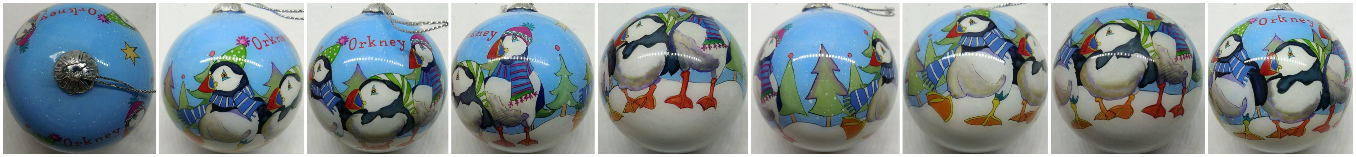 Orkney Christmas Puffin Bauble  £9.95