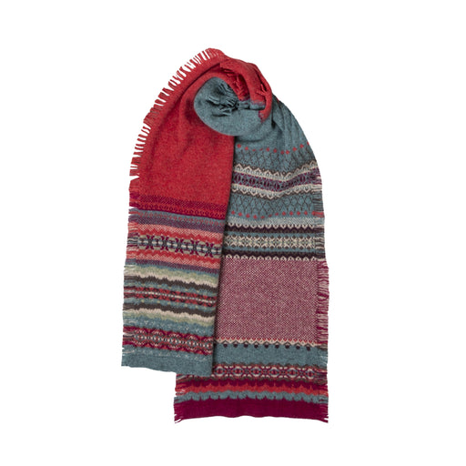 15% OFF Eribe Alba Fringed Scarf in Old Rose WAS £69.00 NOW £59.00