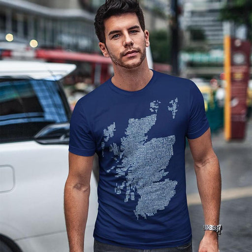 Urban Pirate Scotland Map T-Shirt Navy £22.00