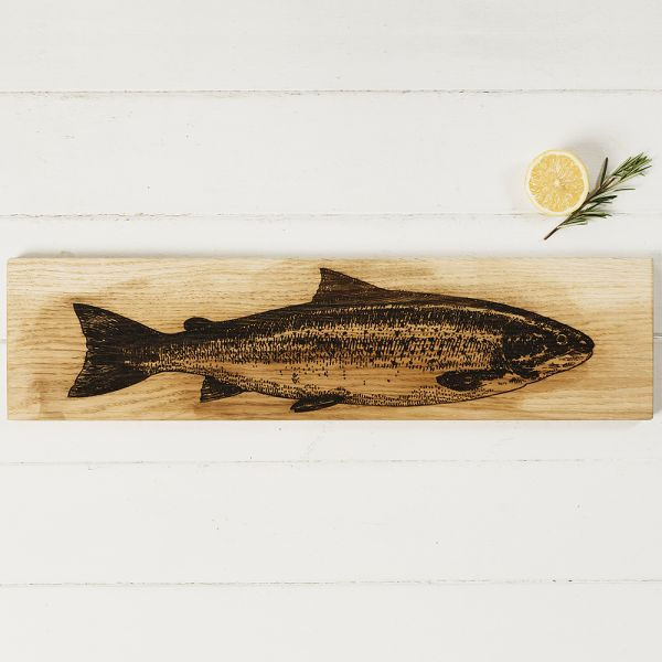 Scottish Made Oak Salmon Large Serving Platter £49.95